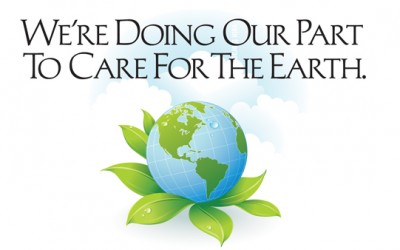 We're Doing Our Part To Care For The Earth
